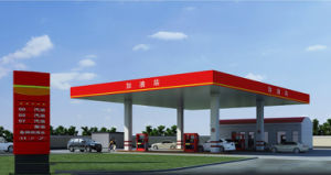 Modern Steel Space Frame Roofing of Gas Station pictures & photos