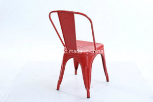 Stackable Metal Frame Iron Colorful Metallic Top Metal Chair Zs-T01 pictures & photos