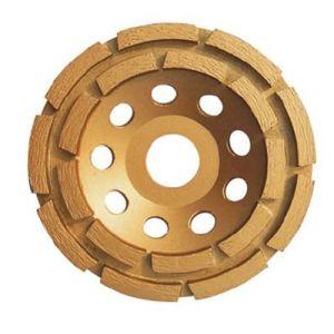 Good Quality Kseibi Double Row Type Diamond Wheel Cup Wheel pictures & photos