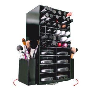 Rotating Acrylic Lipstick Makeup Organizer, Acrylic Lipstick Display Cabinet pictures & photos