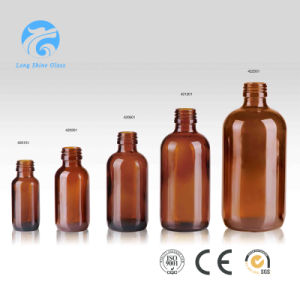 1oz Amber Boston Round Glass Bottle for Pharmaceutical Liquid Medecine pictures & photos