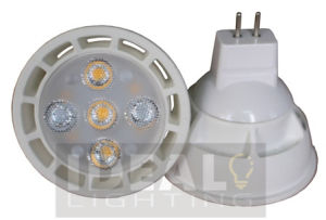LED MR16 5X1w Spotlight 12V White Shell 400lm