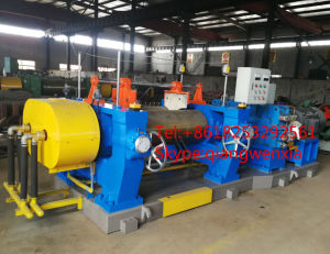Double Shaft Driving Bearing Rolls China Qingdao CE Approval Rubber Sheet Making Machine 22inch Two Roll Mixing Mill Machine pictures & photos
