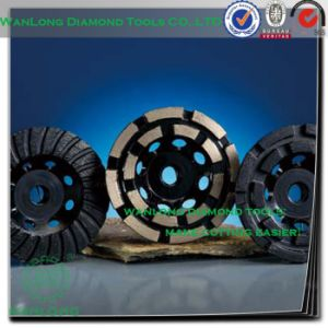 7 Inch Double Row Diamond Cup Grinding Wheel for Stone Grinding-Diamond Wheels pictures & photos