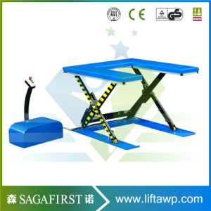 Ce Approved Stationary Scissor Lift Table pictures & photos