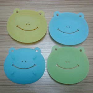 Lovely Cartoon Frog Shape Silicone Soap Dish Soap Mat pictures & photos