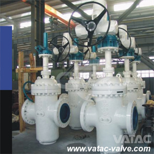 Cast Steel Electric Operated Slab Gate Valve pictures & photos