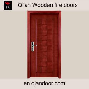 Sapele Veneer Wooden Main Door Wooden Fire Doors pictures & photos
