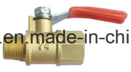 Thread Brass Gas Ball Valve with Steel Handle pictures & photos