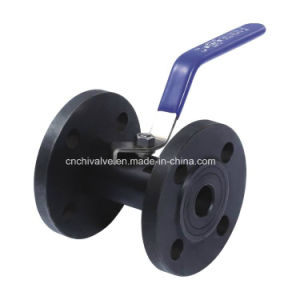Carbon Steel 1PC Flange Ball Valve pictures & photos