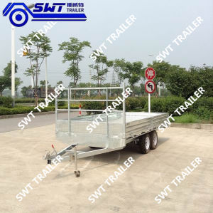 Hot Dipped Flatdeck Interlink Tandem Trailers (SWT-FTT107) pictures & photos