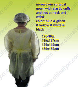 Disposable Nonwoven Isolation Gown, with Tie (LY-NSE-Y) pictures & photos