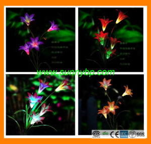 3 in 1color Changing LED Garden Light Powered by Solar pictures & photos