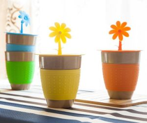 Rice Husk Fiber Cup/ Sunflower Cup pictures & photos