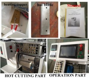 Magic Tape, Band, Tube, Sleeve, Film, Label Strip Automatic Cutting Machine pictures & photos