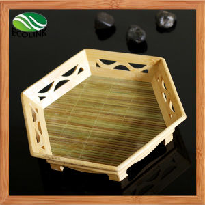 Handmade Bamboo Tray/ Fruit Tray pictures & photos