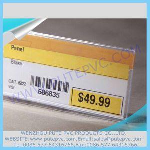 PT-PT-006 Hot Bending Shelf Talker Price Talker Label Strip Data Strip Label Holder for Supermarkets and Shops Products Merchandise Displaying