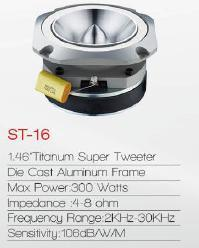Car Audio Aluminium Dome Super Tweeter (St-16) pictures & photos
