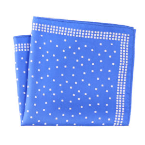 Fashionable Silk Polyester Printed Plaid Pocket Square Hanky Handkerchief pictures & photos