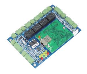 TCP/IP 4 Door Access Controller Board with Electric Lock pictures & photos