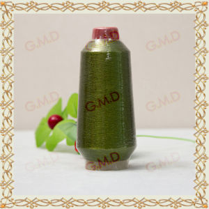 St Type Green Color Metallic Yarn for Sewing