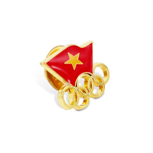 Combination of Two Flags Lapel Pin Badge (GZHY-LP-011) pictures & photos