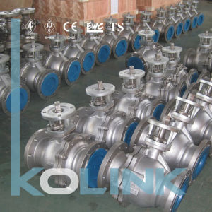 Cast Steel Ball Valve Floating Type Flang End pictures & photos