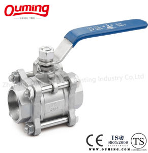 3PC Stainless Steel Thread End Floating Ball Valve pictures & photos