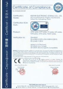 New Ce Certificate Under IEC61643-11 for Myn Series Varistor
