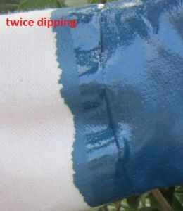 Twice Dipped Oil Proof Nitrile Gloves Safety Industrial Work Glove pictures & photos