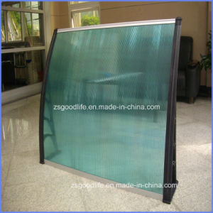 Economic Outdoor Polycarbonate Plastic Waterproof Patio Awnings Rain Shades 800X100cm pictures & photos