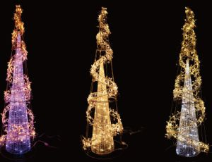 Popular LED Cone Christmas Ornaments Canada Commercial Christmas Decorating pictures & photos