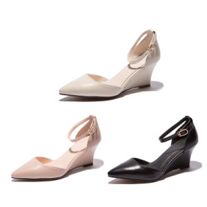 High Wedge-Soled Heel Sharp Toe Women Sandals