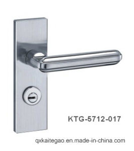 (KTG-5712-017) 304 Satin Finish Modern Door Handle on Plate pictures & photos