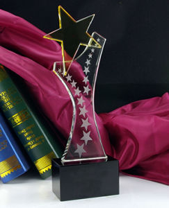 Crystal Trophy Boutique Pentagram Trophy pictures & photos