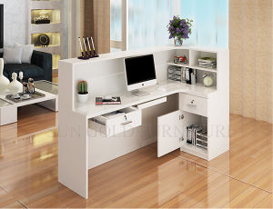 Modern Beauty Salon White Reception Desk Office Counter Table (SZ-RTB003) pictures & photos