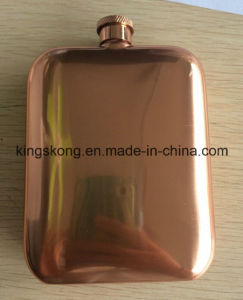 18/8 FDA Stainless Steel Food Safe Pure Chivas Whisky Copper Finish Hip Flask pictures & photos