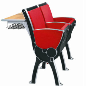 University or College School Furniture Middle Row Aluminum Hall Chair with Back Table pictures & photos