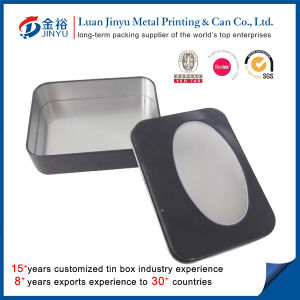 Custom Printed Metal Tin with Clear PVC Window pictures & photos