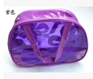 Order Accepted Printing Transparent PVC Toiletry Bag with Zipper pictures & photos