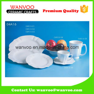 White Modern Restaurant Dinnerware Sets From China Factory pictures & photos