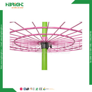 Rolling Wire Round Basket Display Rack for Promotion pictures & photos