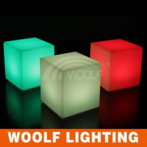 Dongguan Waterproof LED Cube Glowing Outdoor Chair pictures & photos