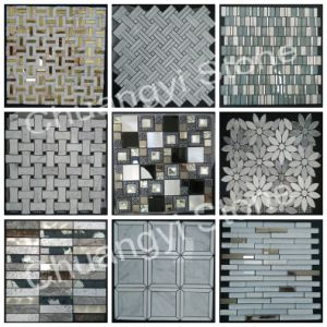 Wholesale White/Black/Gold/Grey Basalt/Slate/Shell/Granite/Glass/Marble/Travertine/Limstone/ Stone Tile Mosaic