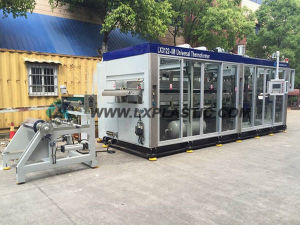 Ce Certificated Chinese Quality Auto Servo Pressure Plastic Tilting Mould Cup Thermoforming Equipments pictures & photos