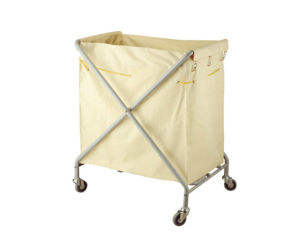 Hotel Stainless Steel Folding Linen Cart pictures & photos