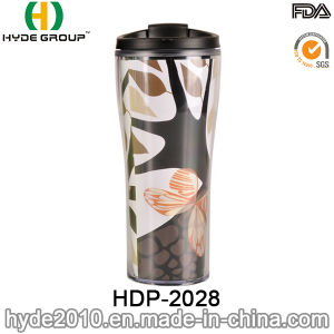 New Prouduct Double Wall Plastic Coffee Mug (HDP-2028) pictures & photos