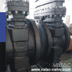 Pneumatic and Handwheel Operated A216 Wcb Cl150~Cl600 Slab Gate Valve API/CE pictures & photos