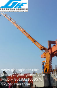 Telescopic Knuckle Boom Marine Deck Crane 18t pictures & photos
