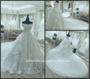 Lace Organza Bridal Ball Gowns Custom Made Real Wedding Dress Gl1725 pictures & photos